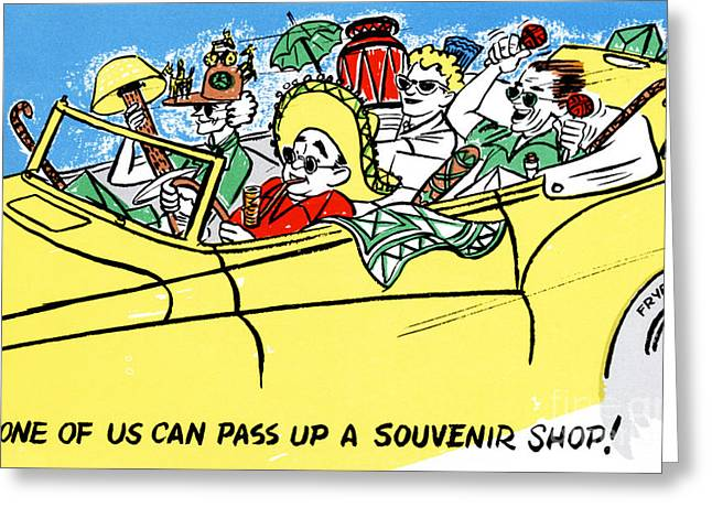 None Of Us Can Pass Up A Souvenir Shop Greeting Card by Eldon Frye