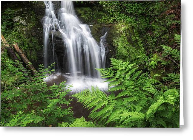 Ethereal Waterfalls Greeting Cards - Nonnewaug Falls Square Greeting Card by Bill  Wakeley