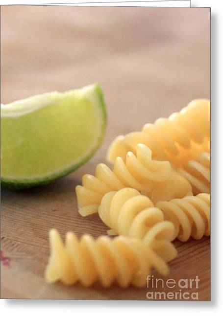 Spaghetti Noodles Greeting Cards - Noodles Greeting Card by AR Annahita
