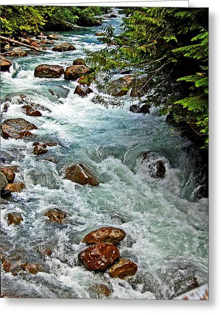 Randall Templeton Greeting Cards - Nooksack River Greeting Card by Randall Templeton