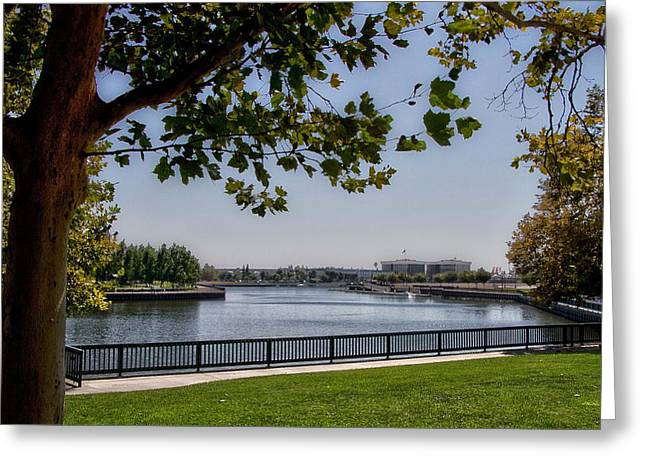 Stockton Greeting Cards - Noon Greeting Card by Miguel  Uribe