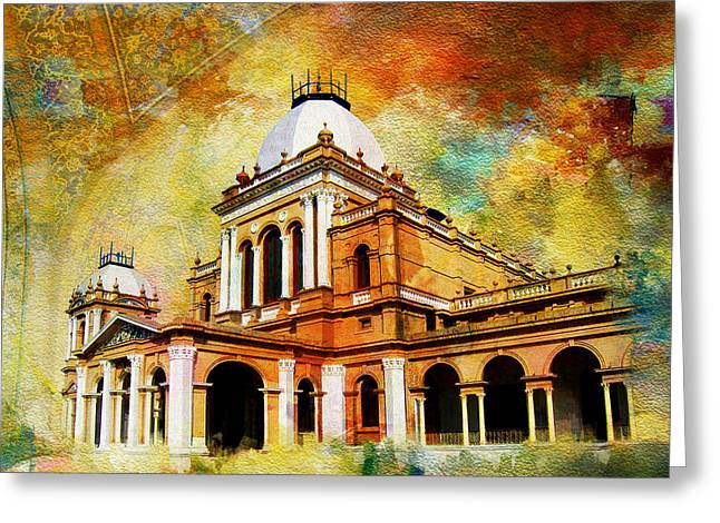 Noor Greeting Cards - Noor Mahal Greeting Card by Catf