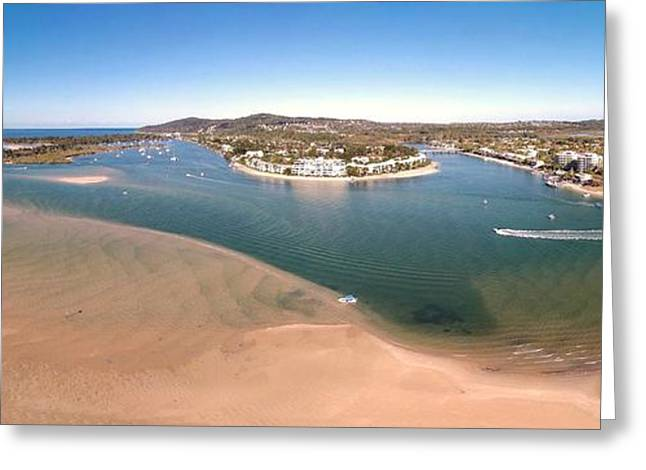 Beautiful Creek Greeting Cards - Noosa River 180 Greeting Card by David Hancock