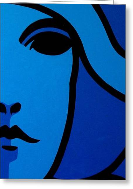 Cobalt Blues Greeting Cards - Nora Barnacle Greeting Card by John  Nolan