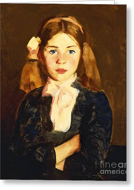 One Person Only Greeting Cards - Nora Greeting Card by Robert Henri