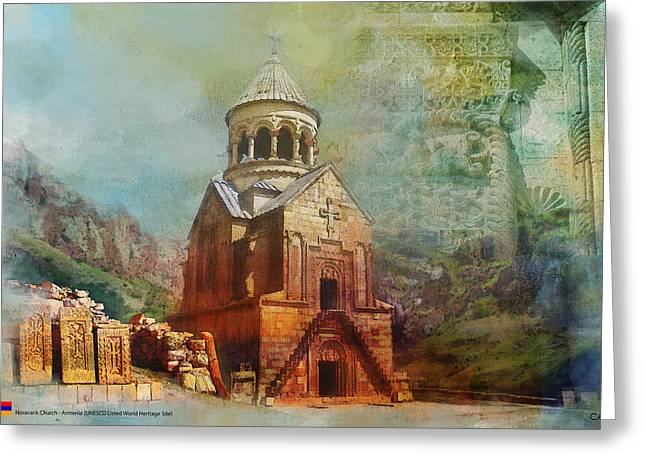 Armenia Greeting Cards - Noravank Church Greeting Card by Catf
