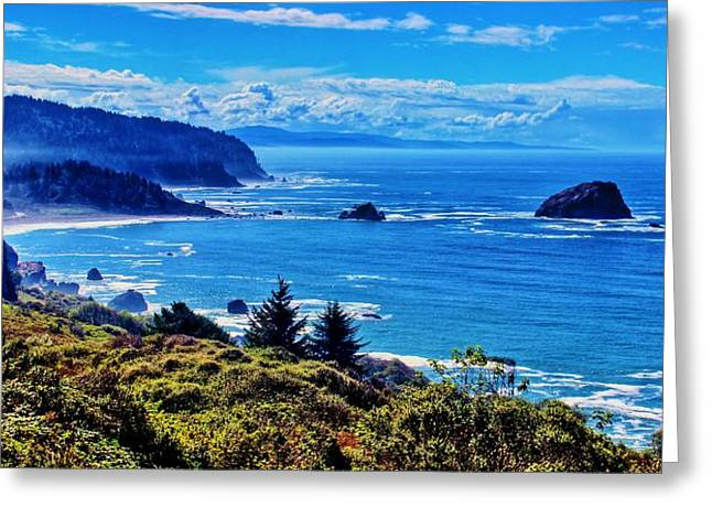 Foggy Ocean Greeting Cards - Norcal Coast Greeting Card by Benjamin Yeager