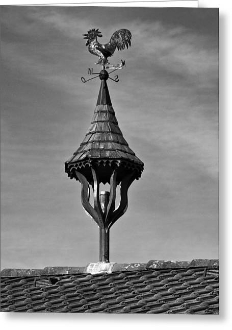 Weathervane Photographs Greeting Cards - Nord Ost Sud West Greeting Card by Kurt Golgart