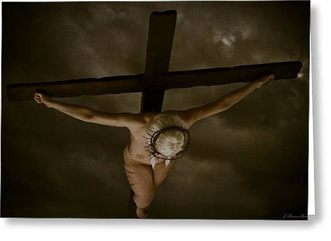 Kreuz Greeting Cards - Nordic Crucifix Greeting Card by Ramon Martinez