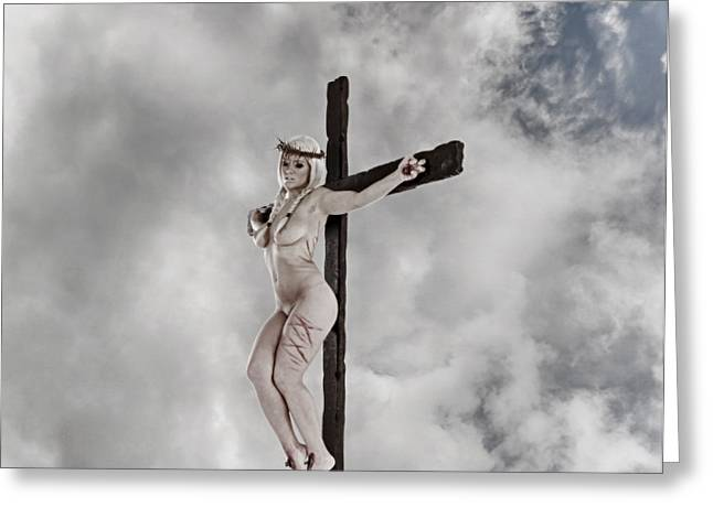 Nordic Female Jesus Greeting Card by Ramon Martinez