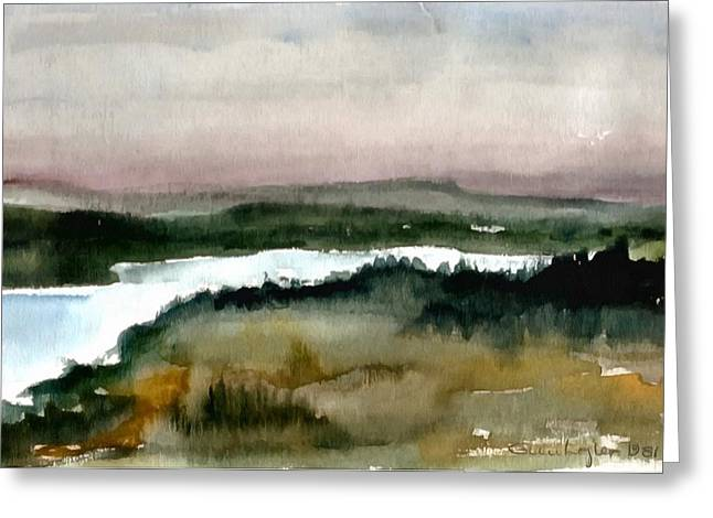 River View Greeting Cards - Nordic view Greeting Card by Gun Legler