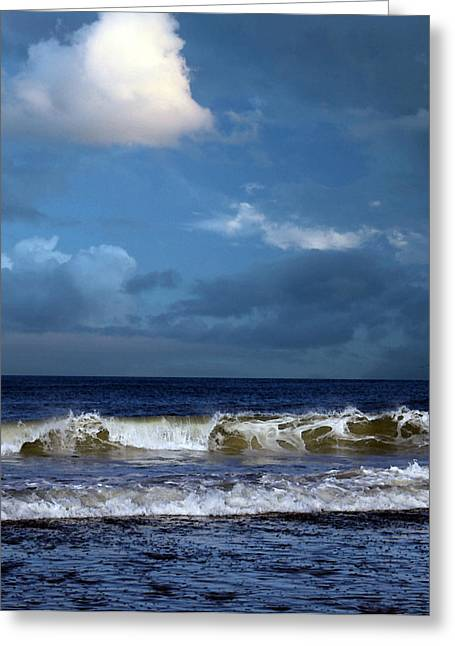 Storm Clouds Cape Cod Greeting Cards - Noreaster Blowin In Greeting Card by William Sargent