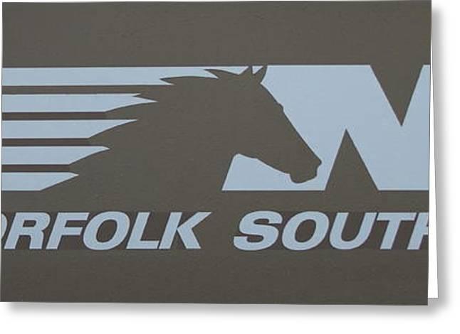 Csx Greeting Cards - Norfolk Southern Railway Greeting Card by Reid Callaway