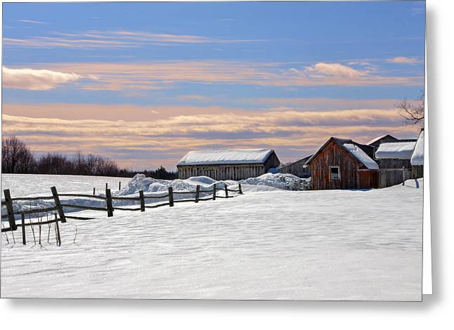 Maine Farms Greeting Cards - Norlands 2 Greeting Card by Lisa Bryant