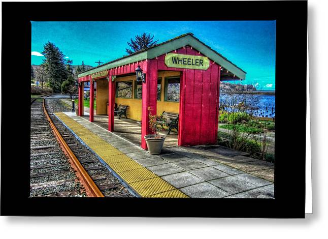Oregon Coast Greeting Cards - Norm Laknes Train Station Greeting Card by Thom Zehrfeld