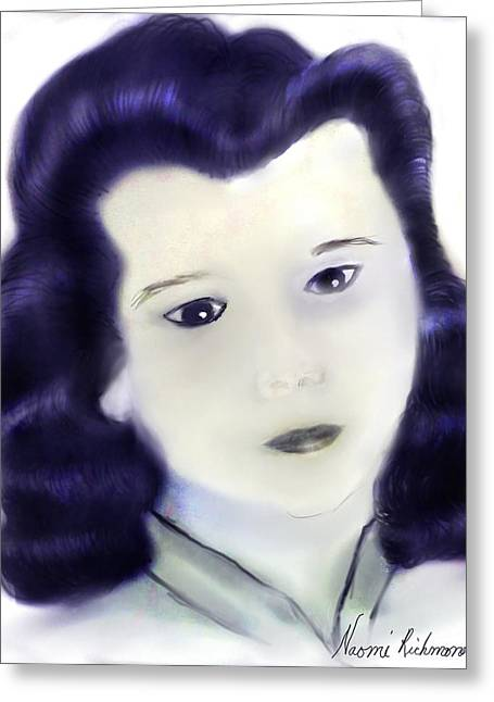 Portray Greeting Cards - Norma Jean 1946 Greeting Card by Naomi Richmond