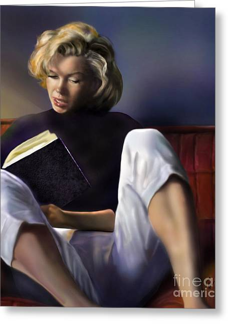 Norma Jeane Greeting Cards - Norma Jeane Baker Greeting Card by Reggie Duffie