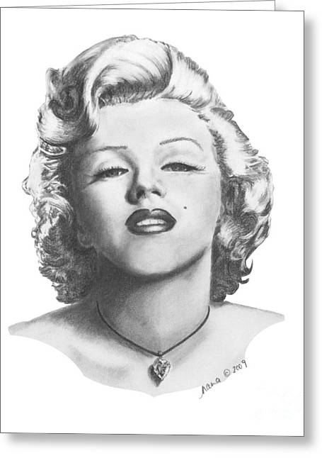 Nanas Art Greeting Cards - Norma Jeane Greeting Card by Marianne NANA Betts
