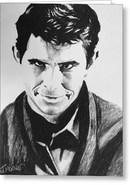 Norman Bates Greeting Cards - Norman Bates Greeting Card by Jeremy Moore