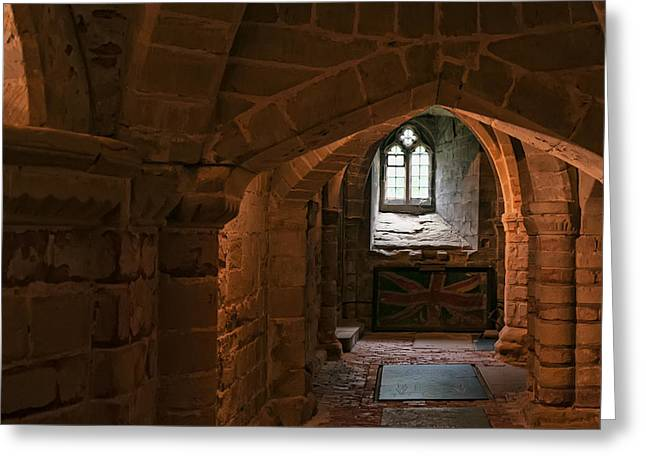 Warwick Greeting Cards - Norman Crypt Greeting Card by Dan McManus