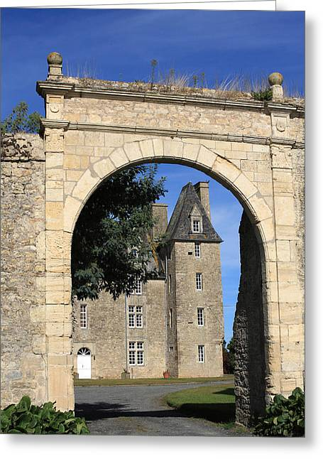 Palace Of The Normans Greeting Cards - Norman Manor Arched Door Greeting Card by Aidan Moran