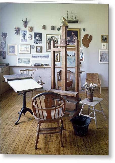 Highsmith Greeting Cards - Norman Rockwell Studio Greeting Card by Carol Highsmith