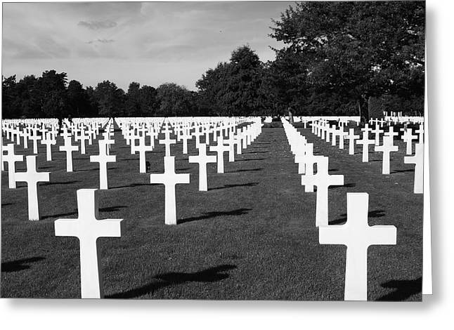 Free Of Peace Greeting Cards - Second World War Cemetery Greeting Card by Aidan Moran