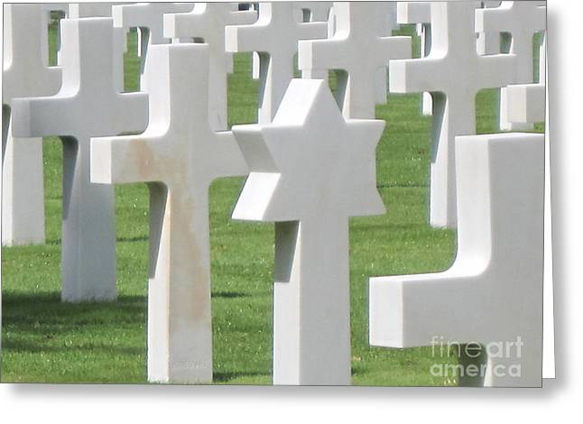 Normandy American Cemetery Greeting Card by HEVi FineArt