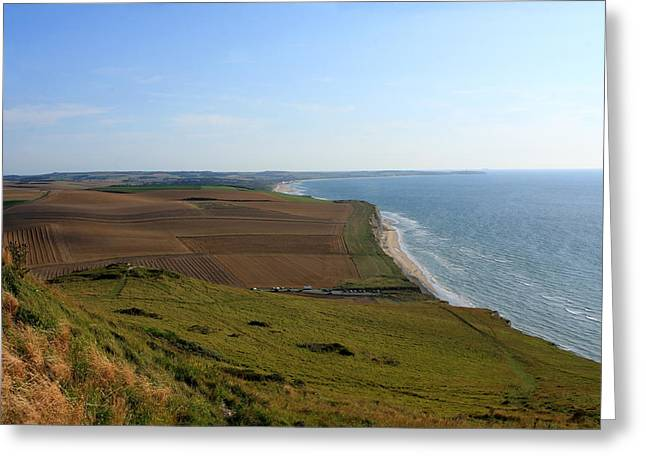 Rolling Hills Of France Greeting Cards - Normandy Coast Greeting Card by Aidan Moran