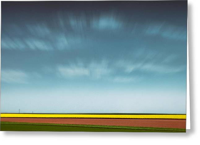 Layer Greeting Cards - Normandy Fields Greeting Card by Dave Bowman