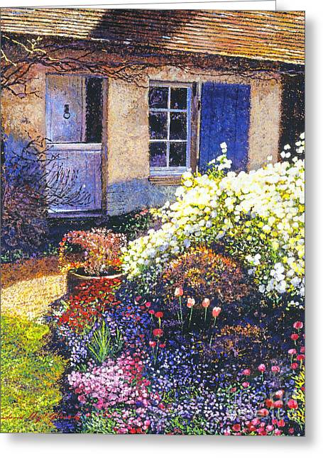 French Door Greeting Cards - Normandy Spring Greeting Card by David Lloyd Glover