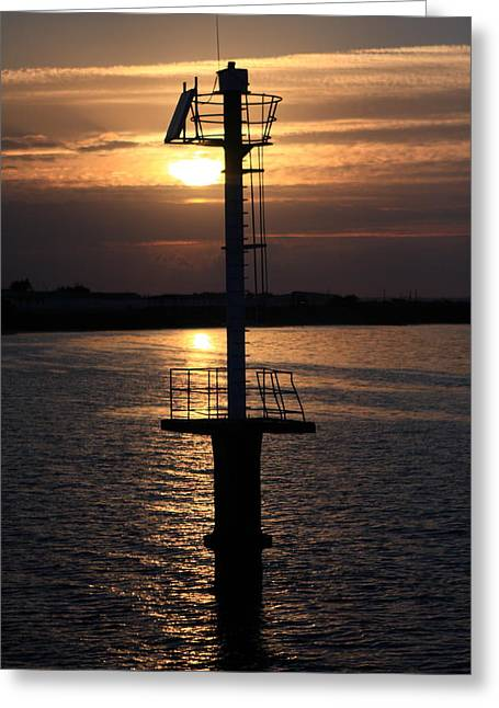 Sunset Prints Photographs Greeting Cards - Guiding Light Greeting Card by Aidan Moran