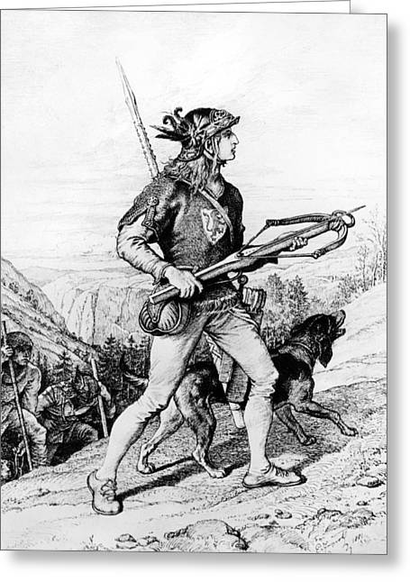 Norman Drawings Greeting Cards - Normans With Crossbow Greeting Card by Underwood Archives
