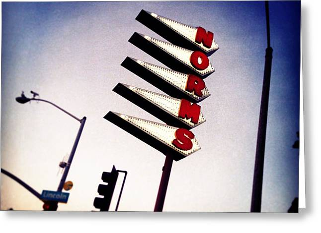 Sign Photographs Greeting Cards - Norms Place Greeting Card by Jeff Klingler