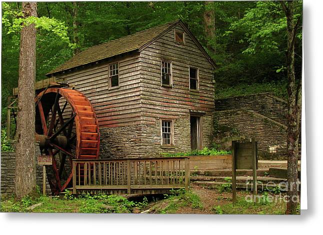 Norris Dam Grist Mill Greeting Card by Douglas Stucky