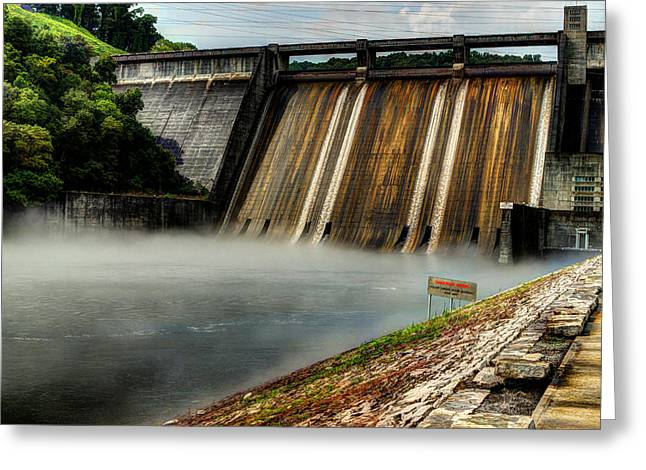 Water Flowing Greeting Cards - Norris Lake Dam Greeting Card by Michael Eingle