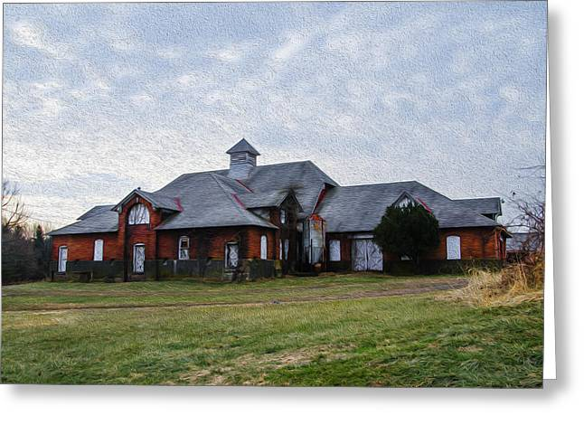 State Hospital Greeting Cards - Norristown State Hospital Farm Building Greeting Card by Bill Cannon
