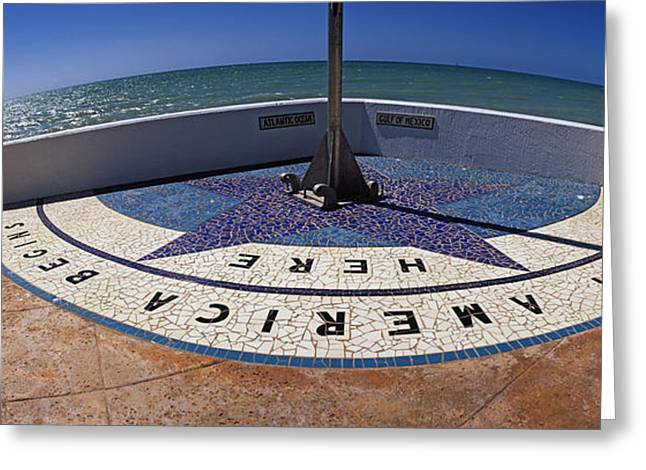 Script Greeting Cards - North America Begins Here, Key West Greeting Card by Panoramic Images