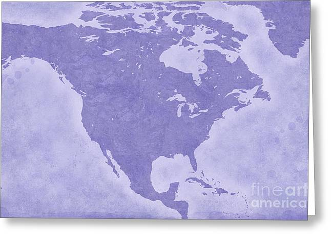 Geographic Location Greeting Cards - North America Greeting Card by Tina M Wenger