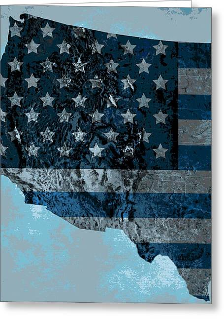 Geology Digital Art Greeting Cards - North America Topography Map Greeting Card by Dan Sproul