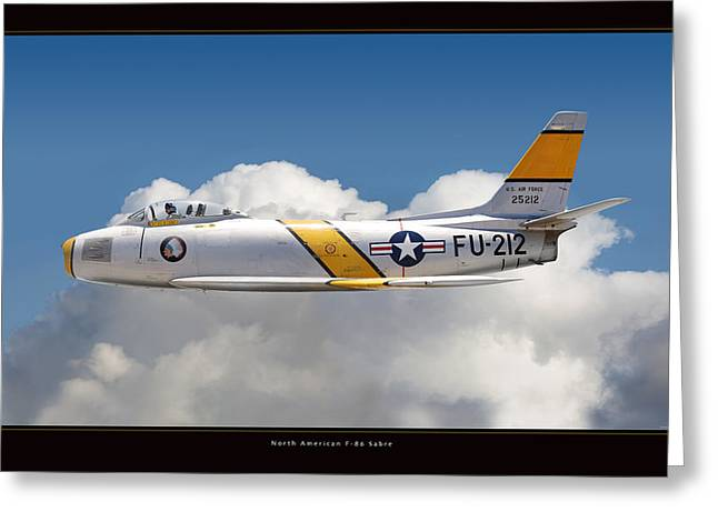 North American F-86 Sabre Greeting Card by Larry McManus