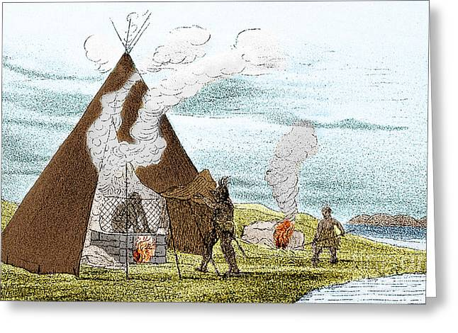 Sweat Greeting Cards - North American Indian Vapor Baths, C Greeting Card by Science Source