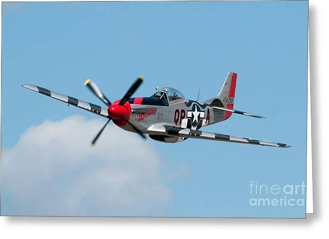 North American P51 Mustang Photographs Greeting Cards - North American P-51D Mustang 01 Greeting Card by Pieter Stroobach
