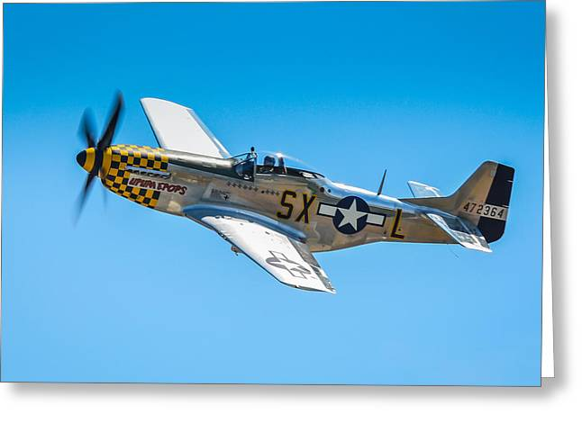 P-51 Mustang Photographs Greeting Cards - North American P-51D Mustang  Greeting Card by Puget  Exposure