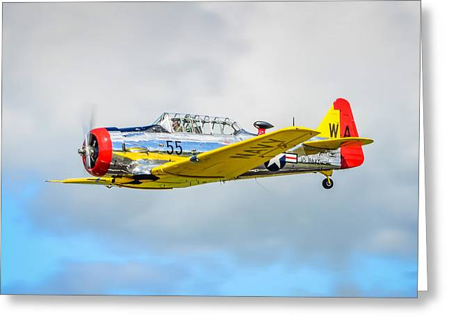 Opening Day Greeting Cards - North American SNJ Trainer  Greeting Card by Puget  Exposure