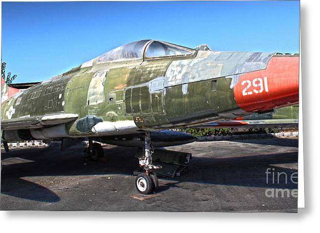 North American Super Sabre Qf-100d Greeting Card by Gregory Dyer