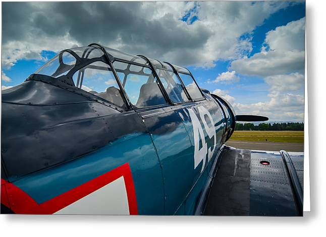 Media Exposure Greeting Cards - North American T-6G  Texan  Greeting Card by Puget  Exposure