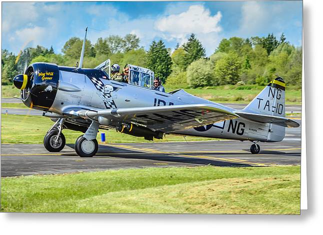 Opening Day Greeting Cards - North American T6 Texan  Greeting Card by Puget  Exposure