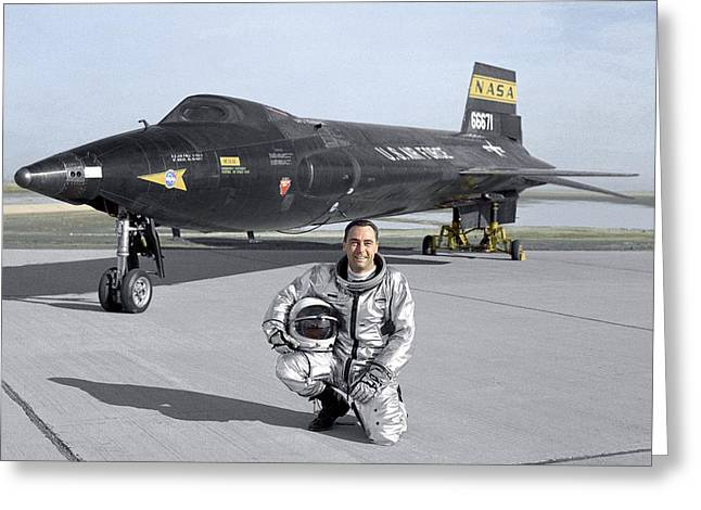 North American X-15 Test Plane Greeting Card by Nasa