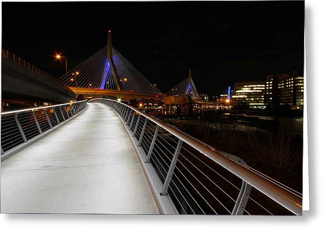 Td Bank Garden Greeting Cards - North Bank Bridge Greeting Card by Juergen Roth
